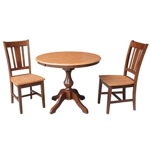 36 Round Dining Table With 12 Leaf And 2 San Remo Chairs 3