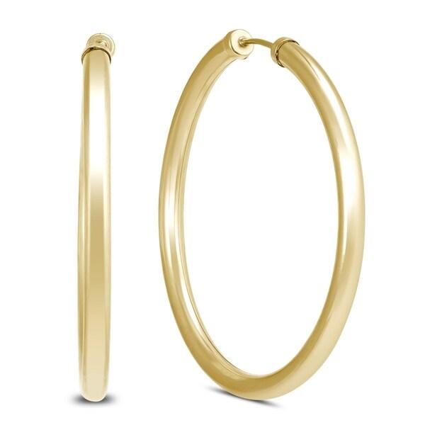 40MM 14K Yellow Gold Filled Endless Hoop Earrings (3mm Gauge)
