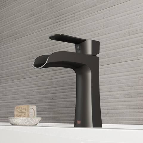 VIGO Paloma Matte Black Single Hole Bathroom Faucet