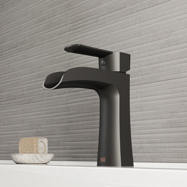 VIGO Paloma Matte Black Single Hole Bathroom Faucet