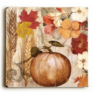 Pumpkin -   Planked Wood Wall Decor by ArtLicensing