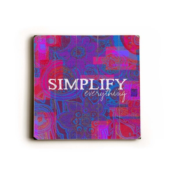 Simplify - Planked Wood Wall Decor by Lisa Weedn