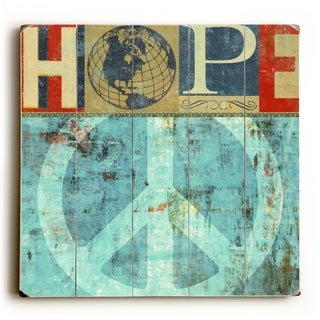 Hope -   Planked Wood Wall Decor by Stella Bradley