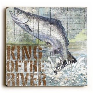 King of the River -   Planked Wood Wall Decor by ArtLicensing