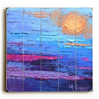 Moon Over Miami - Multi  Planked Wood Wall Decor by Carol Schiff