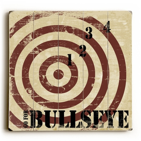 Go for Bullseye - Planked Wood Wall Decor by Misty Diller