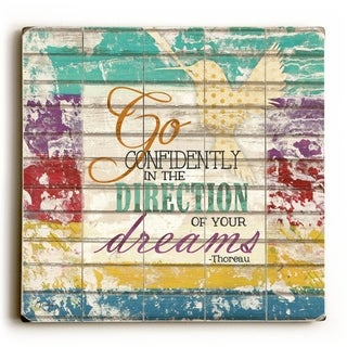 Go Confidently -   Planked Wood Wall Decor by Misty Diller