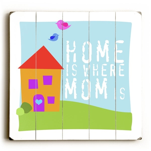 Mom is - Planked Wood Wall Decor by Misty Diller