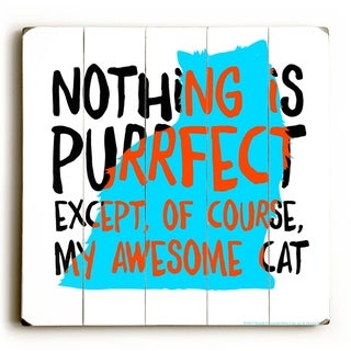 Cat Purrrrfect -   Planked Wood Wall Decor by Mainline Art