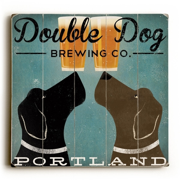 Black Dog Brewing Co - Planked Wood Wall Decor by Ryan Fowler