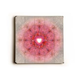 Kaleidoscope Heart -   Planked Wood Wall Decor by Krista Raak