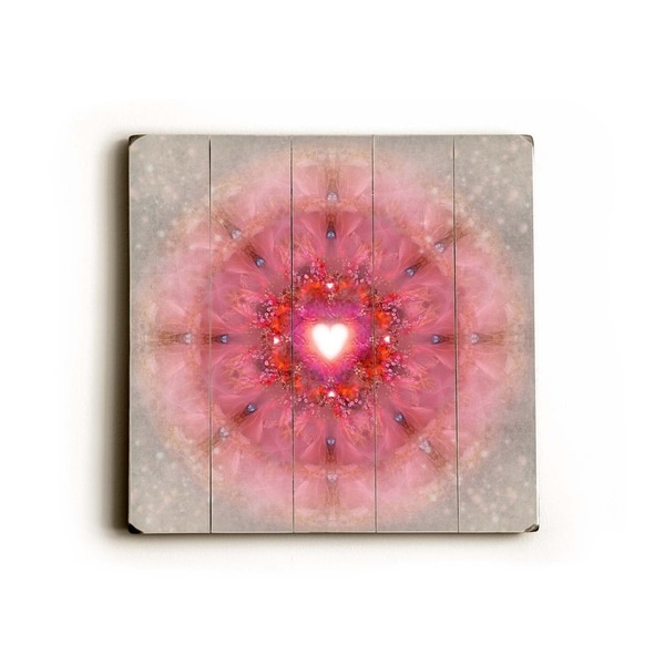 Kaleidoscope Heart - Planked Wood Wall Decor by Krista Raak