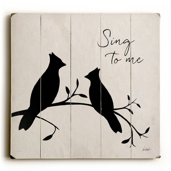 Sing to Me - Planked Wood Wall Decor by Lisa Weedn