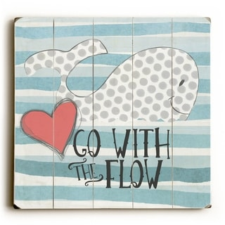 Go With the Flow -   Planked Wood Wall Decor by Misty Diller