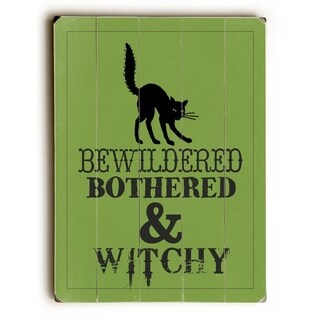 Bewitched - 9x12 Solid Wood Wall Decor by WildApple - Katie Pertiet - 9 x 12