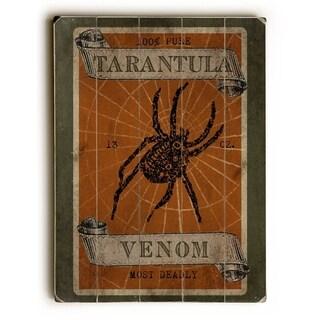 Tarantula Venom - 9x12 Solid Wood Wall Decor by Mainline Art - Beth Albert - 9 x 12