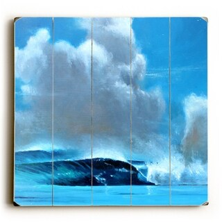 Cloud Wave -   Planked Wood Wall Decor by Wade Koniakowsky