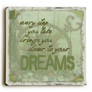 Every Step You Take -   Planked Wood Wall Decor by Lisa Weedn