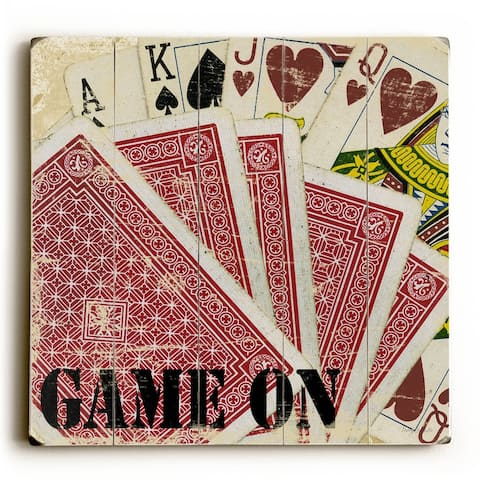 Game On - Planked Wood Wall Decor by Misty Diller