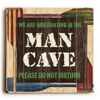 Man Cave -   Planked Wood Wall Decor by Debbie DeWitt