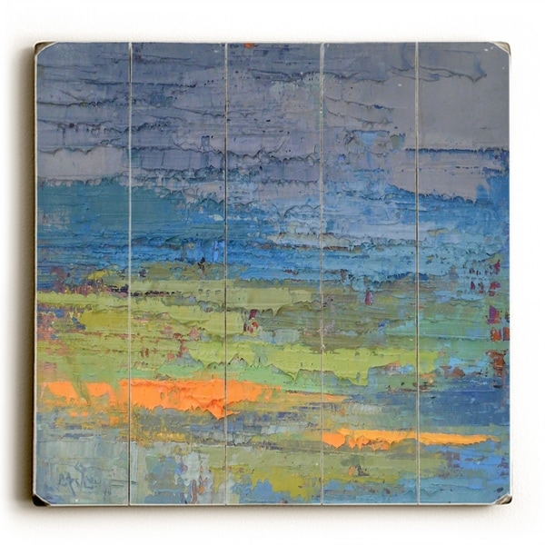 Rainy Day In Albany - Multi Planked Wood Wall Decor by Carol Schiff