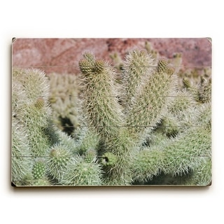 Desert Cactus  - Multi  Planked Wood Wall Decor by Lisa Argyropoulos