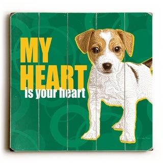 My Heart -   Planked Wood Wall Decor by Kate Ward Thacker
