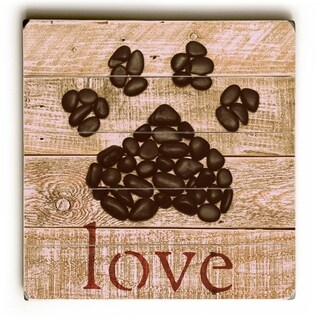 Love -   Planked Wood Wall Decor by Mainline Art