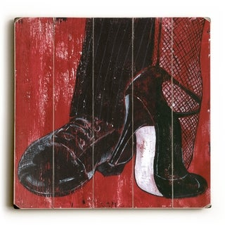 Dancing Shoes -   Planked Wood Wall Decor by Debbie DeWitt