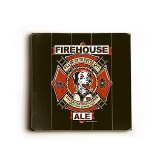 Firehouse Ale -   Planked Wood Wall Decor by Dog is Good