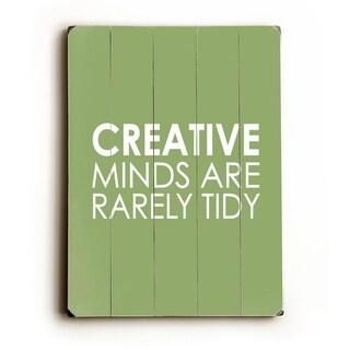 Creative Minds -  9x12 Solid Wood Wall Decor by Amanda Catherine - 9 x 12