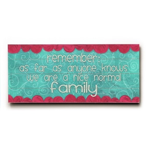 Remember Family - Planked Wood Wall Decor by Misty Diller