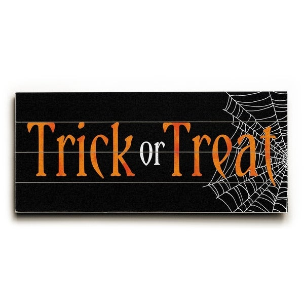 Trick or Treat - Planked Wood Wall Decor by Elyse DeNeige