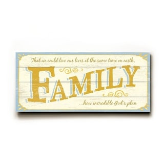 0003-1337-Family -   Planked Wood Wall Decor by FLAVIA
