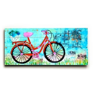Joy Ride -   Planked Wood Wall Decor by Cindy Wunsch