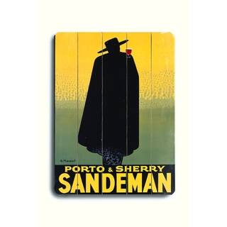 Sandeman Port Wine - 9x12 Solid Wood Wall Decor by Posters Please - 9 x 12