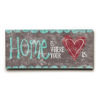 Home is where your heart is - long -   Planked Wood Wall Decor by Misty Diller