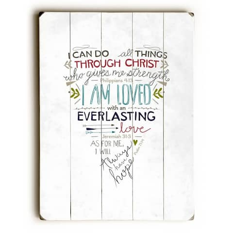 I am loved - 9x12 Solid Wood Wall Decor by Emily Burger - 9 x 12