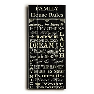 Family Rules -   Planked Wood Wall Decor by Jean Plout