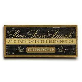 0003-6657-Live, Love, Laugh - Planked Wood Wall Decor by FLAVIA