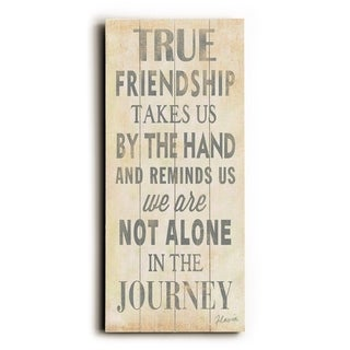 True Friendship -   Planked Wood Wall Decor by FLAVIA