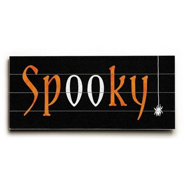 Spooky - Planked Wood Wall Decor by Elyse DeNeige