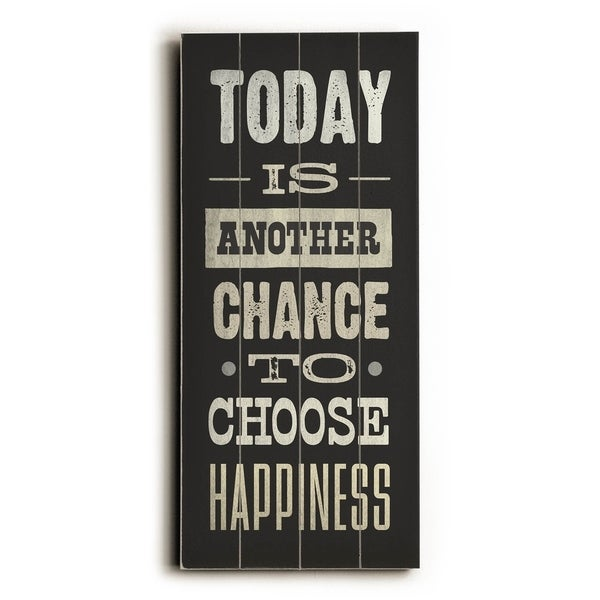 Choose Happiness - Planked Wood Wall Decor by Cory Steffen