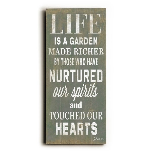 Life is a Garden - Planked Wood Wall Decor by FLAVIA