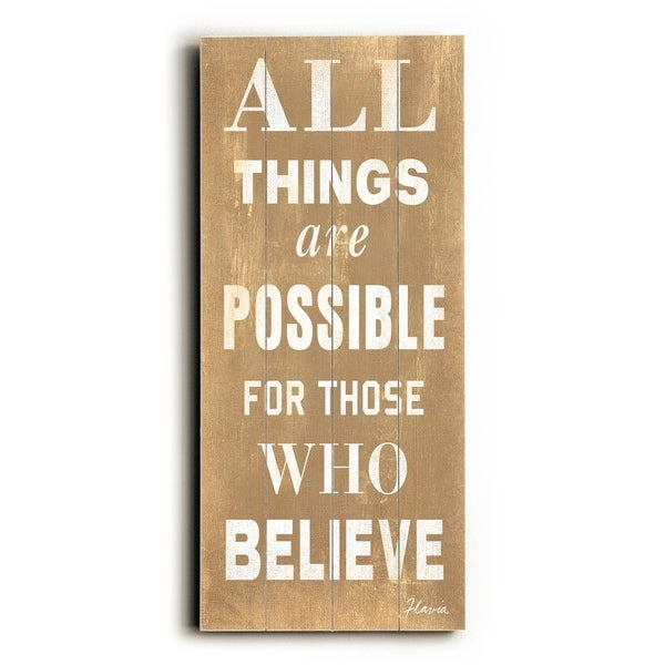 All things are possible - Planked Wood Wall Decor by FLAVIA
