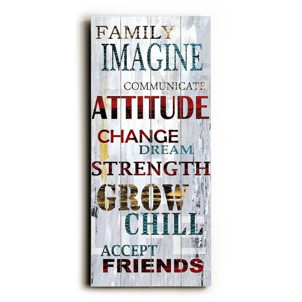 Family Image - Planked Wood Wall Decor by ArtLicensing