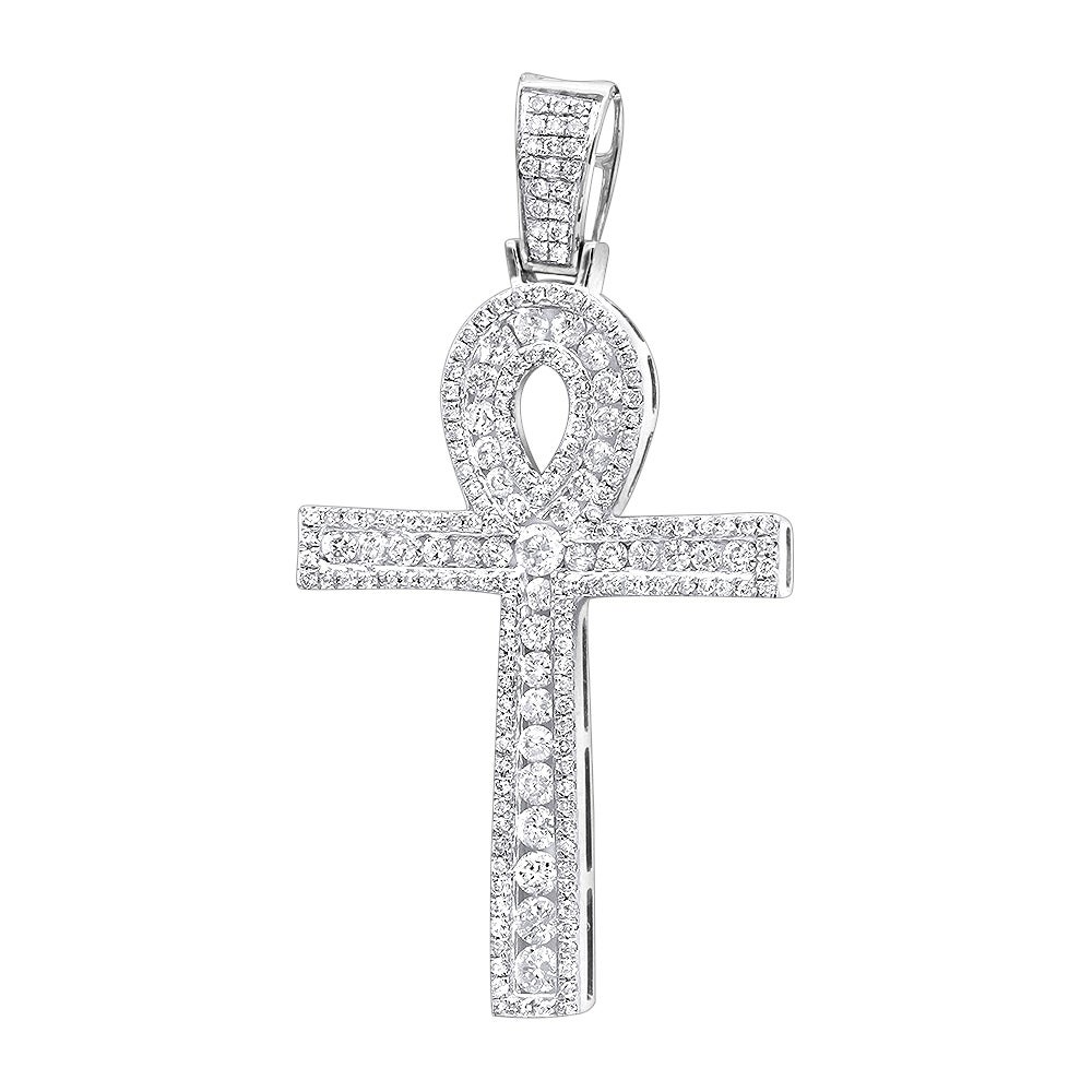 LA BLINGZ 10K Rose Gold Praying Hands Cross DC Charm Necklace