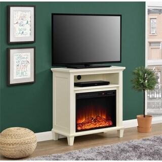 Novogratz Lytton Electric Fireplace Accent Table TV Stand