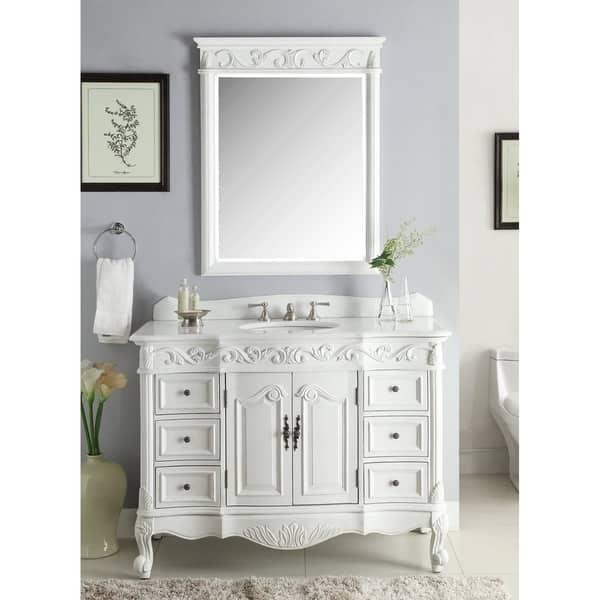 Beckham Antique White Bathroom Vanity