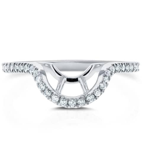 Annello by Kobelli Lab Grown Diamond Notched Basket Curve Wedding Band (1/4 CTW) 14k Gold, DEF VS